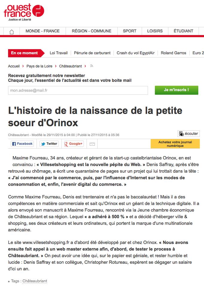 Ouest France novembre 2015-2