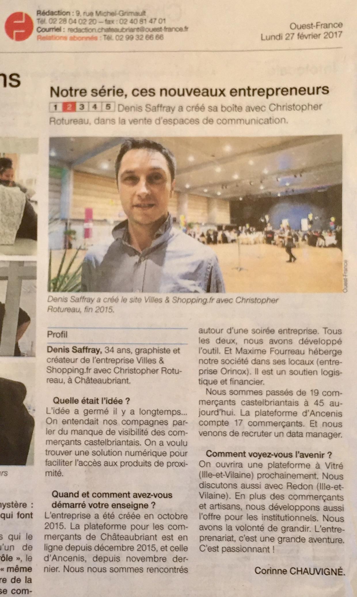 Article Ouest France février 2017