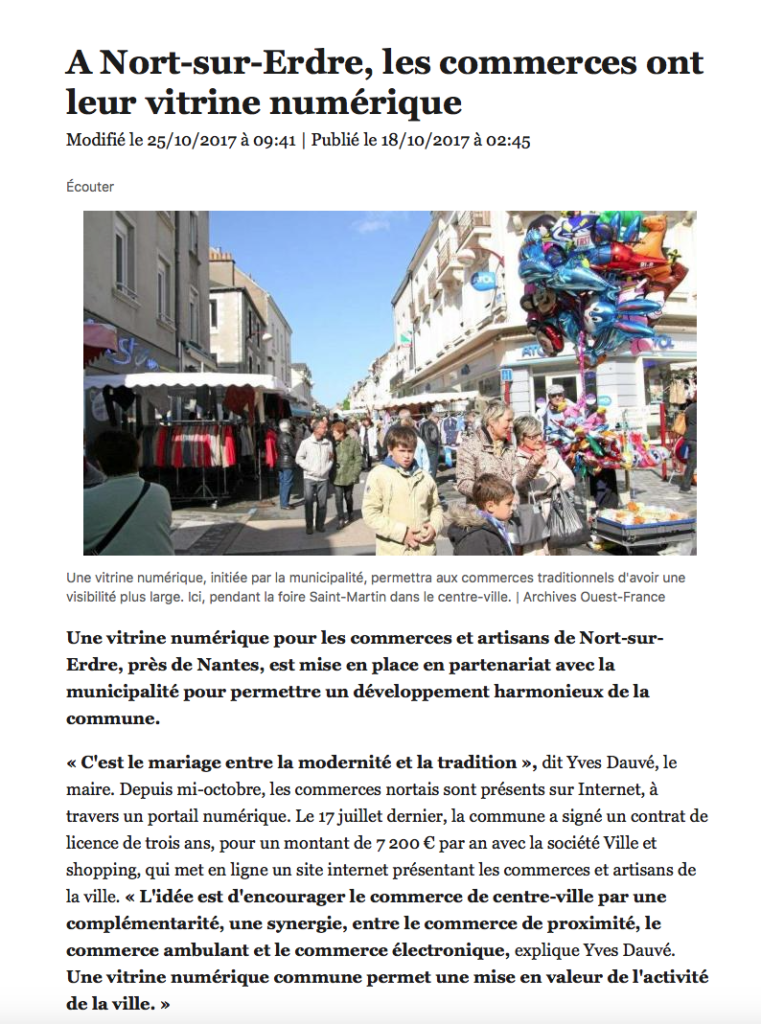 article ouest france 18 octobre 2017
